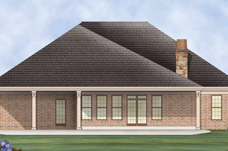 European Exterior - Rear Elevation Plan #119-418 - Houseplans.com