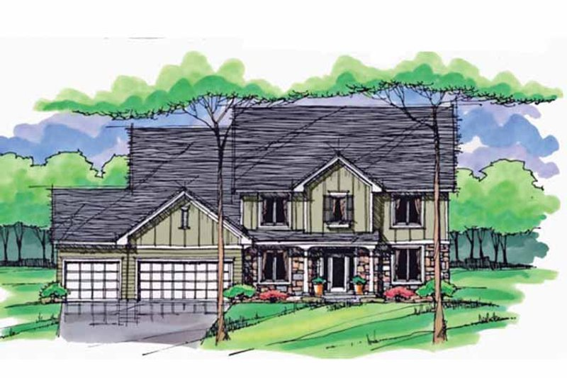 Country Exterior - Front Elevation Plan #51-1030 - Houseplans.com