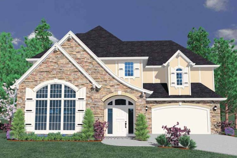 Traditional Exterior - Front Elevation Plan #509-363 - Houseplans.com