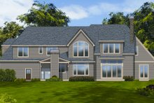 Dream House Plan - European Exterior - Rear Elevation Plan #48-259