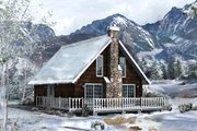 Cottage Style House Plan - 2 Beds 1 Baths 1211 Sq/Ft Plan #57-483 Exterior - Front Elevation