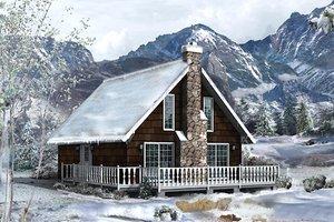 Cottage Exterior - Front Elevation Plan #57-483
