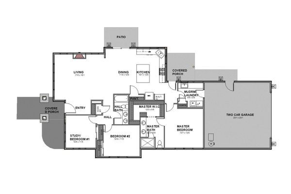 Craftsman Floor Plan - Main Floor Plan Plan #895-96