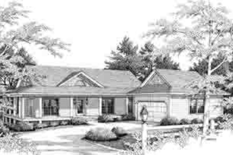 Country Style House Plan - 3 Beds 2 Baths 1529 Sq/Ft Plan #71-103