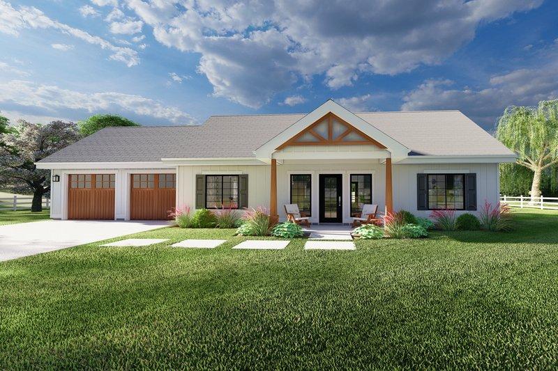 Architectural House Design - Farmhouse Exterior - Front Elevation Plan #126-239
