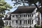 Colonial Style House Plan - 4 Beds 3 Baths 2631 Sq/Ft Plan #137-145 Exterior - Other Elevation