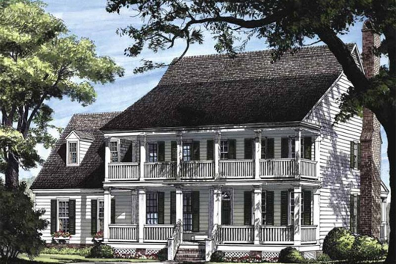 Colonial Exterior - Other Elevation Plan #137-145 - Houseplans.com