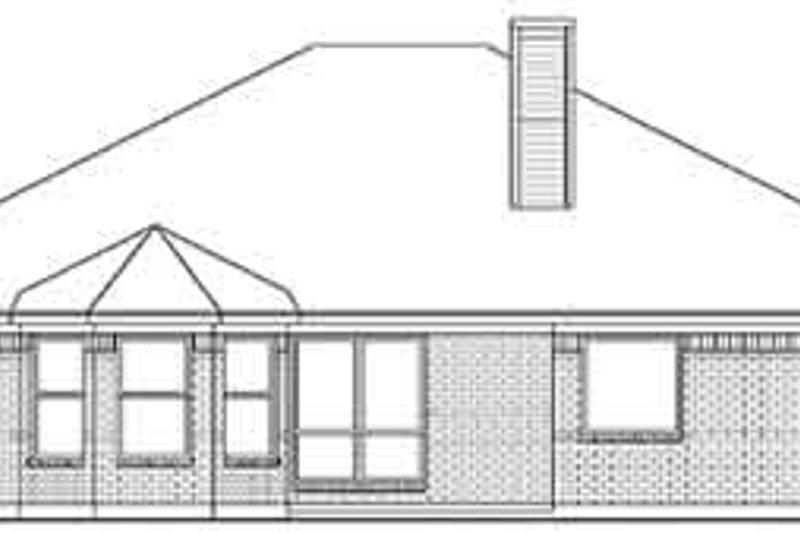 European Exterior - Rear Elevation Plan #84-226 - Houseplans.com