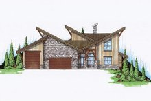 Exterior - Front Elevation Plan #5-461