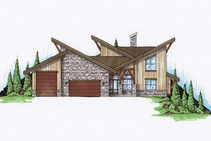 House Plan Design - Exterior - Front Elevation Plan #5-461