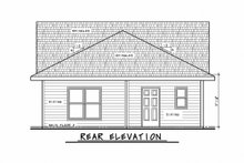 Dream House Plan - Traditional Exterior - Rear Elevation Plan #20-2342