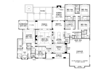 European Floor Plan - Main Floor Plan Plan #929-1008