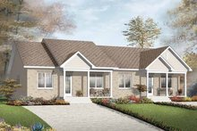 Home Plan - Ranch Exterior - Front Elevation Plan #23-2397