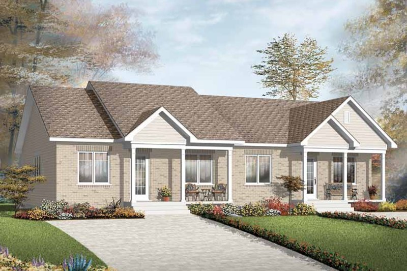Dream House Plan - Ranch Exterior - Front Elevation Plan #23-2397