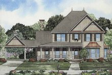 House Plan Design - Colonial Exterior - Front Elevation Plan #17-2859