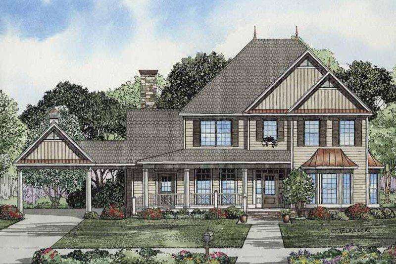 Colonial Exterior - Front Elevation Plan #17-2859 - Houseplans.com