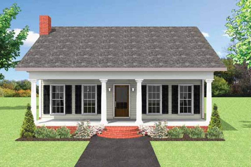 Country Exterior - Front Elevation Plan #44-220