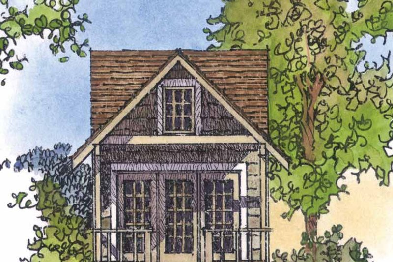 Country Exterior - Front Elevation Plan #1016-71