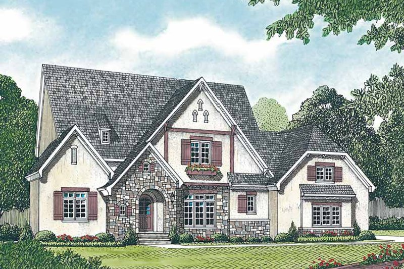 Country Exterior - Front Elevation Plan #453-166