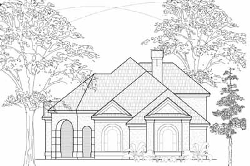 European Exterior - Front Elevation Plan #61-217