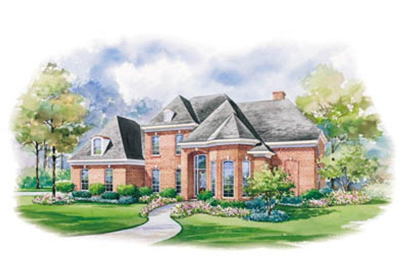 Home Plan - European Exterior - Front Elevation Plan #20-1181