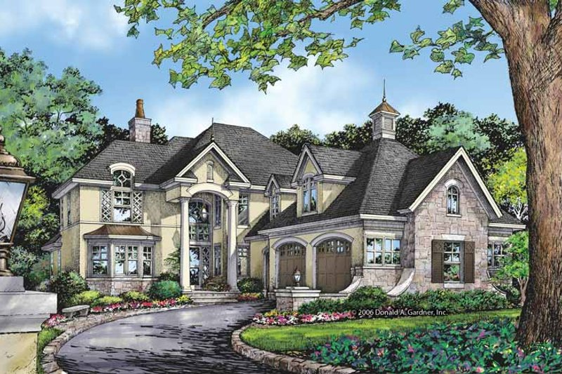 Dream House Plan - European Exterior - Front Elevation Plan #929-863