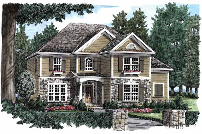 Country Exterior - Front Elevation Plan #927-842