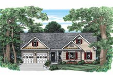 Ranch Exterior - Front Elevation Plan #927-394