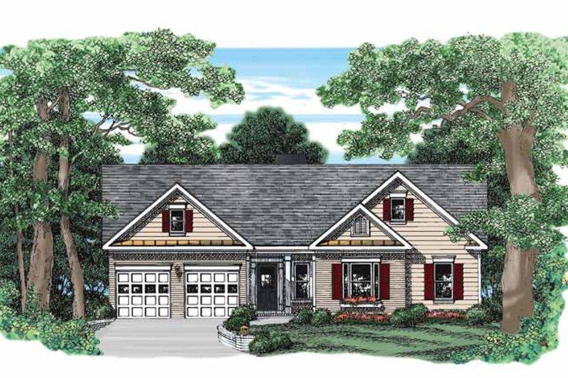 Ranch Exterior - Front Elevation Plan #927-394 - Houseplans.com