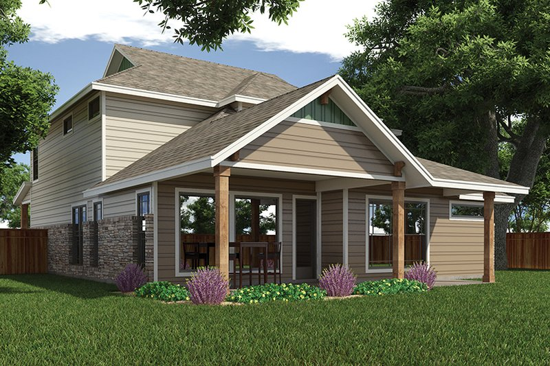 Craftsman Exterior - Rear Elevation Plan #472-437 - Houseplans.com