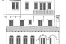 Home Plan - Mediterranean Exterior - Rear Elevation Plan #1058-155