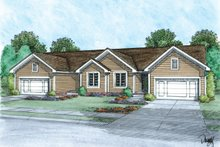 Architectural House Design - Traditional Exterior - Front Elevation Plan #20-2381