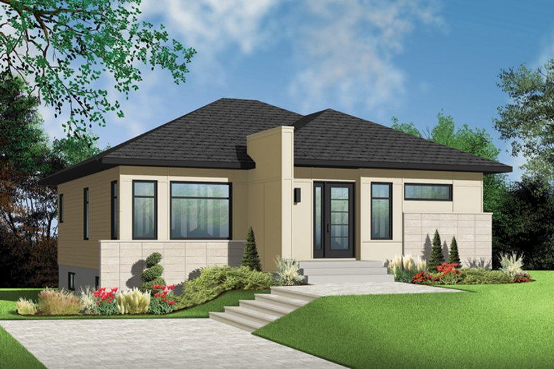 Architectural House Design - Contemporary Exterior - Front Elevation Plan #23-2572