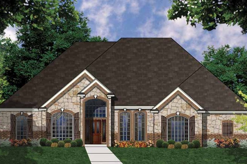 Country Exterior - Front Elevation Plan #62-158 - Houseplans.com