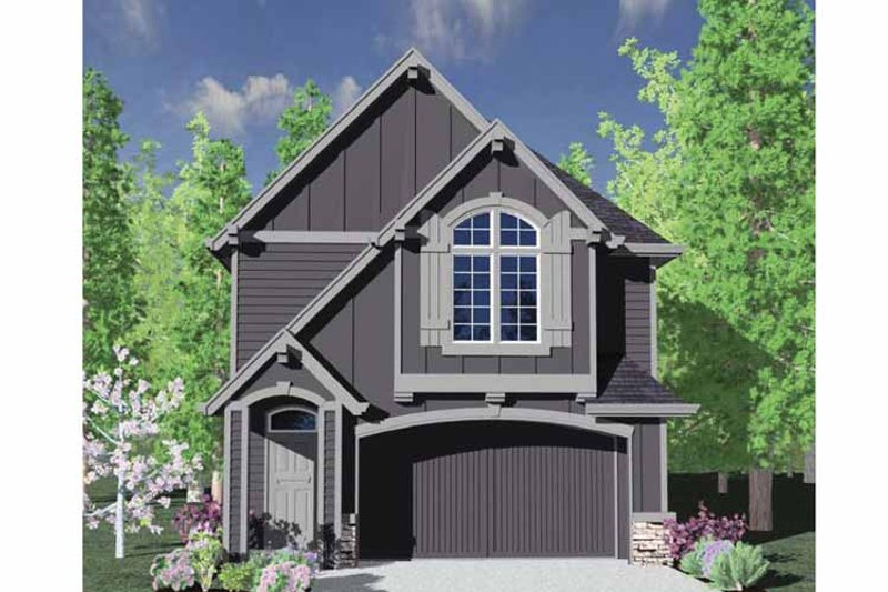 Craftsman Exterior - Front Elevation Plan #509-174