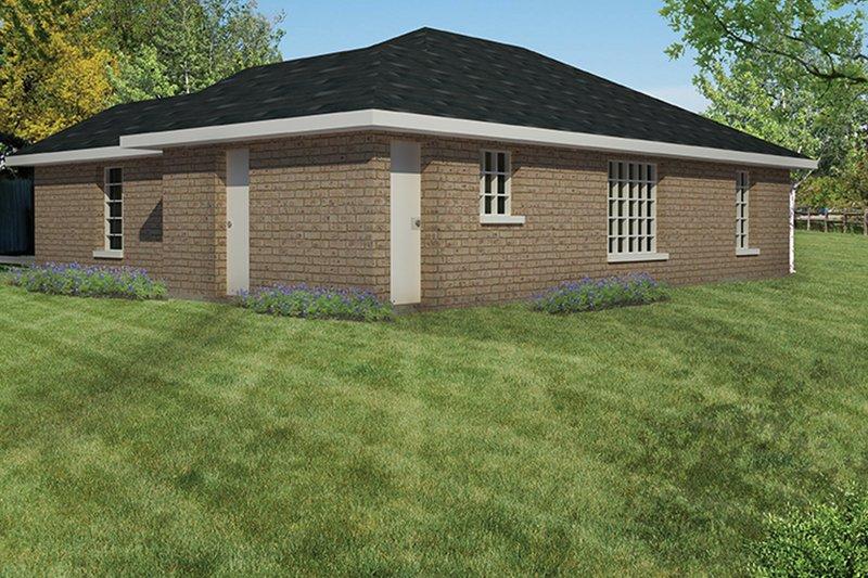 Ranch Exterior - Rear Elevation Plan #1061-18 - Houseplans.com