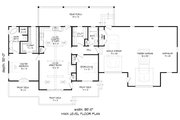 Country Style House Plan - 2 Beds 2 Baths 1365 Sq/Ft Plan #932-170 Floor Plan - Main Floor