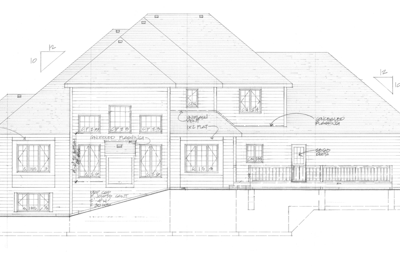 Traditional Exterior - Rear Elevation Plan #328-289 - Houseplans.com