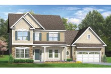Dream House Plan - Colonial Exterior - Front Elevation Plan #1010-49