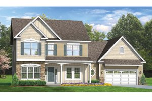 Colonial Exterior - Front Elevation Plan #1010-49