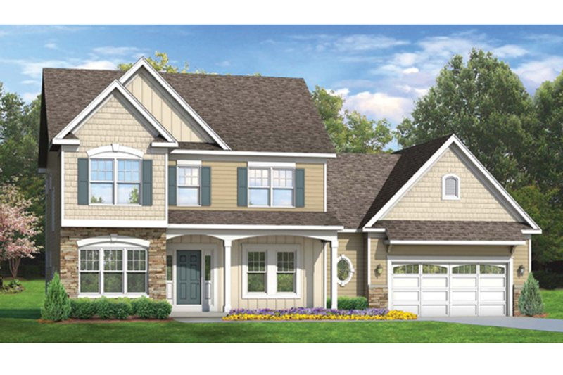 House Plan Design - Colonial Exterior - Front Elevation Plan #1010-49