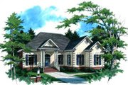 European Style House Plan - 3 Beds 2.5 Baths 2263 Sq/Ft Plan #37-122 Exterior - Front Elevation