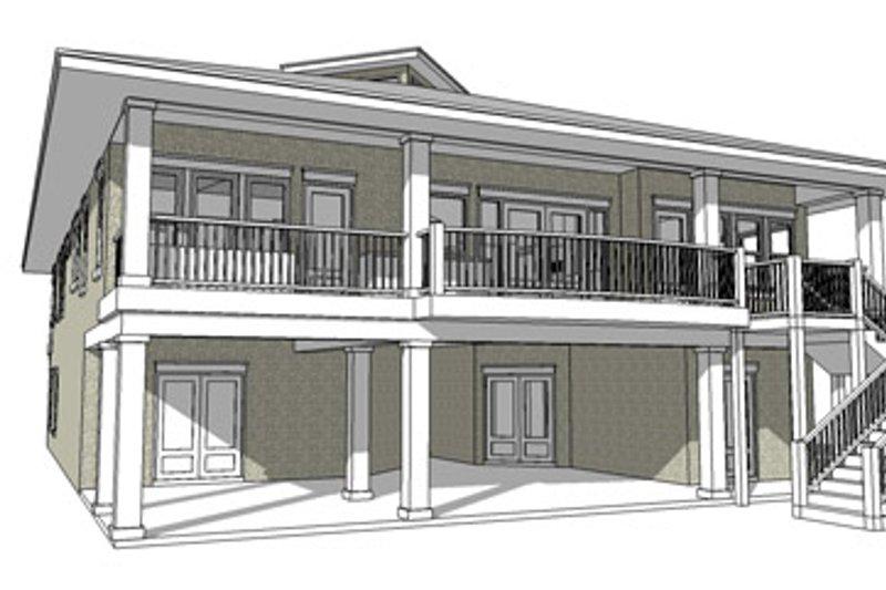 Country Exterior - Rear Elevation Plan #64-265 - Houseplans.com