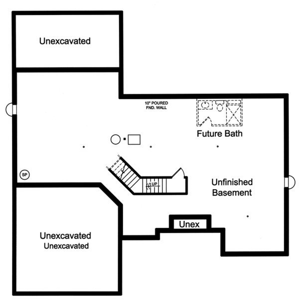 Cottage Floor Plan - Lower Floor Plan Plan #46-865