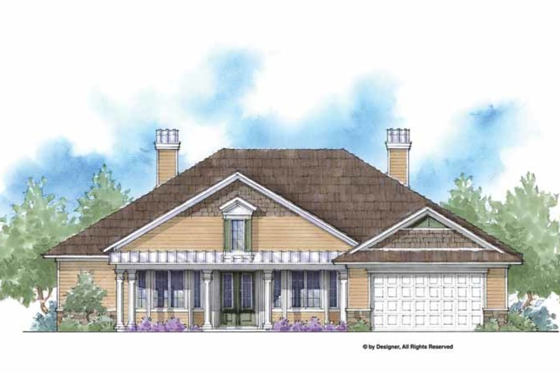 Country Exterior - Front Elevation Plan #938-54