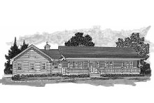 Ranch Exterior - Front Elevation Plan #47-1023