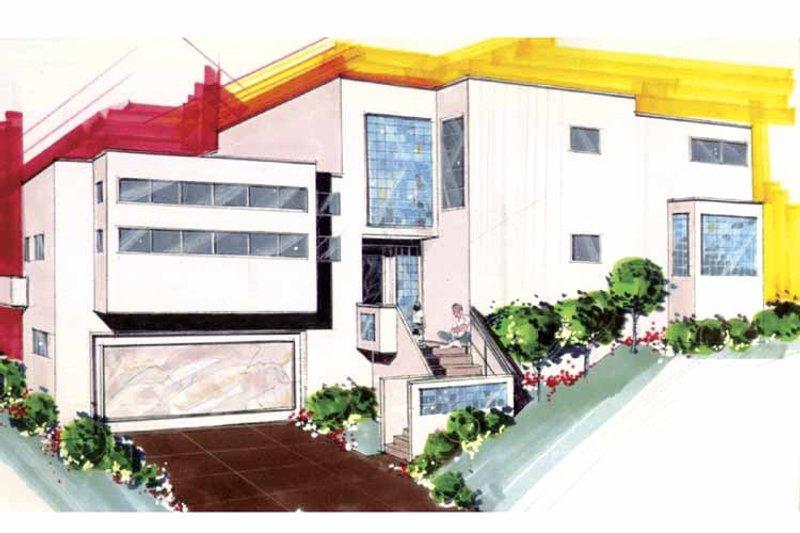 Contemporary Exterior - Front Elevation Plan #509-403 - Houseplans.com