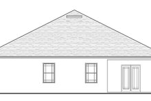 House Plan Design - Craftsman Exterior - Rear Elevation Plan #1058-72