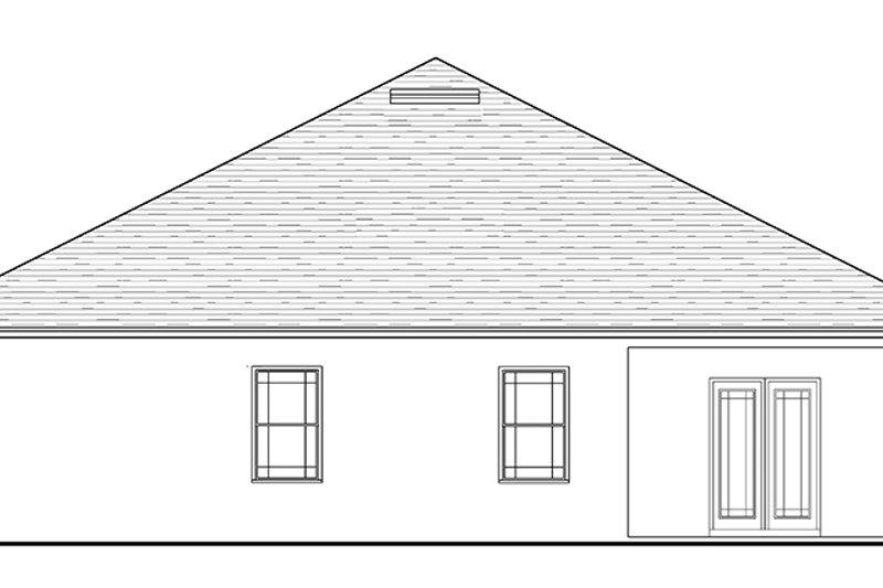 Craftsman Exterior - Rear Elevation Plan #1058-72 - Houseplans.com