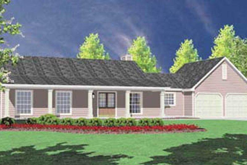 Ranch Exterior - Front Elevation Plan #36-108 - Houseplans.com